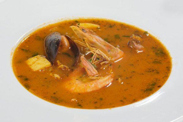 Supă cu fructe de mare (Mariscos) (2 pers)