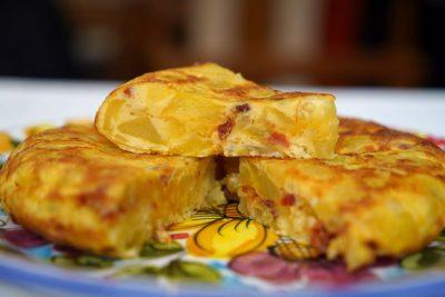 Tortilla Espanola con Chorizo
